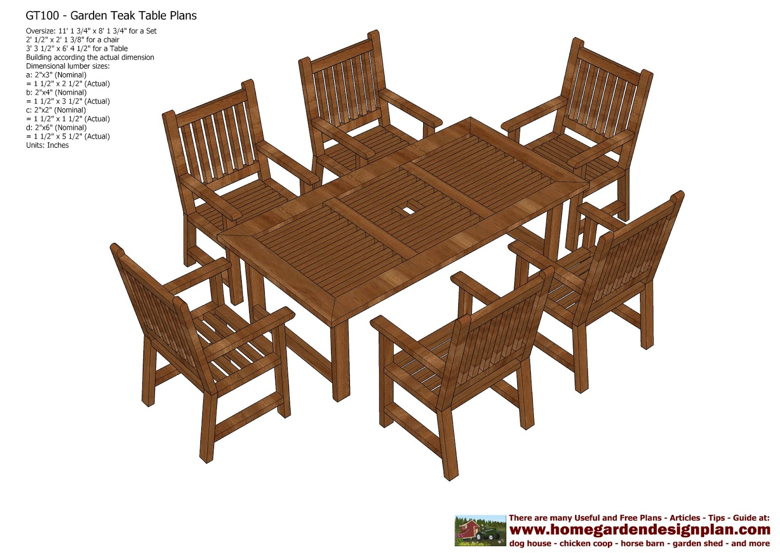 Home Garden Plans: GT100   Garden Teak Tables   Woodworking Plans   Outdoor  Furniture Plans Part 90