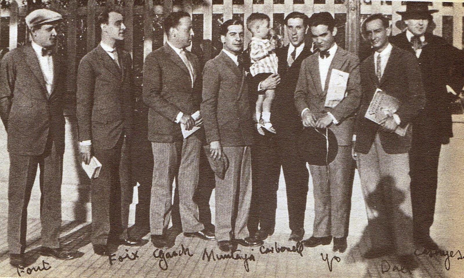Lorca con un grupo de amigos catalanes