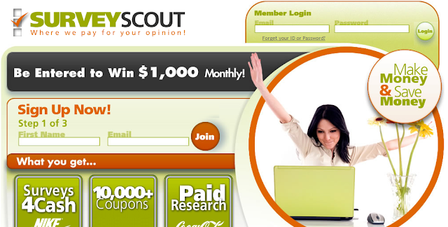 survey scout get paid to sites