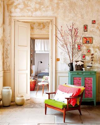 decoración apartamento colorido