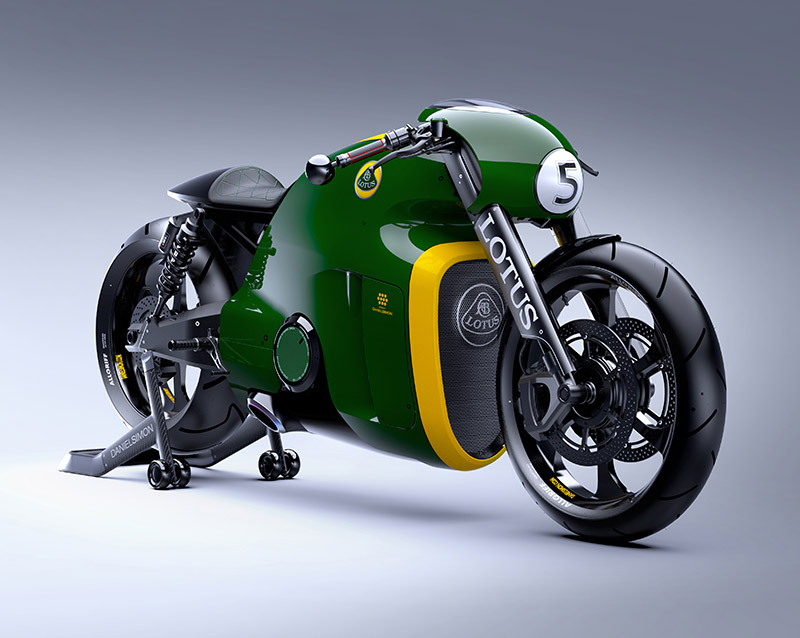 Limited Edition Kodewa Performance Motorcycle, The Lotus C-01, Designed by Daniel Simon.