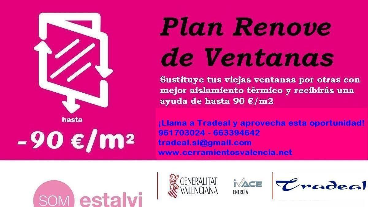 Plan renove 2016 de ventanas en la comunitat valenciana - Cerramientos de aluminio precio por metro cuadrado ...