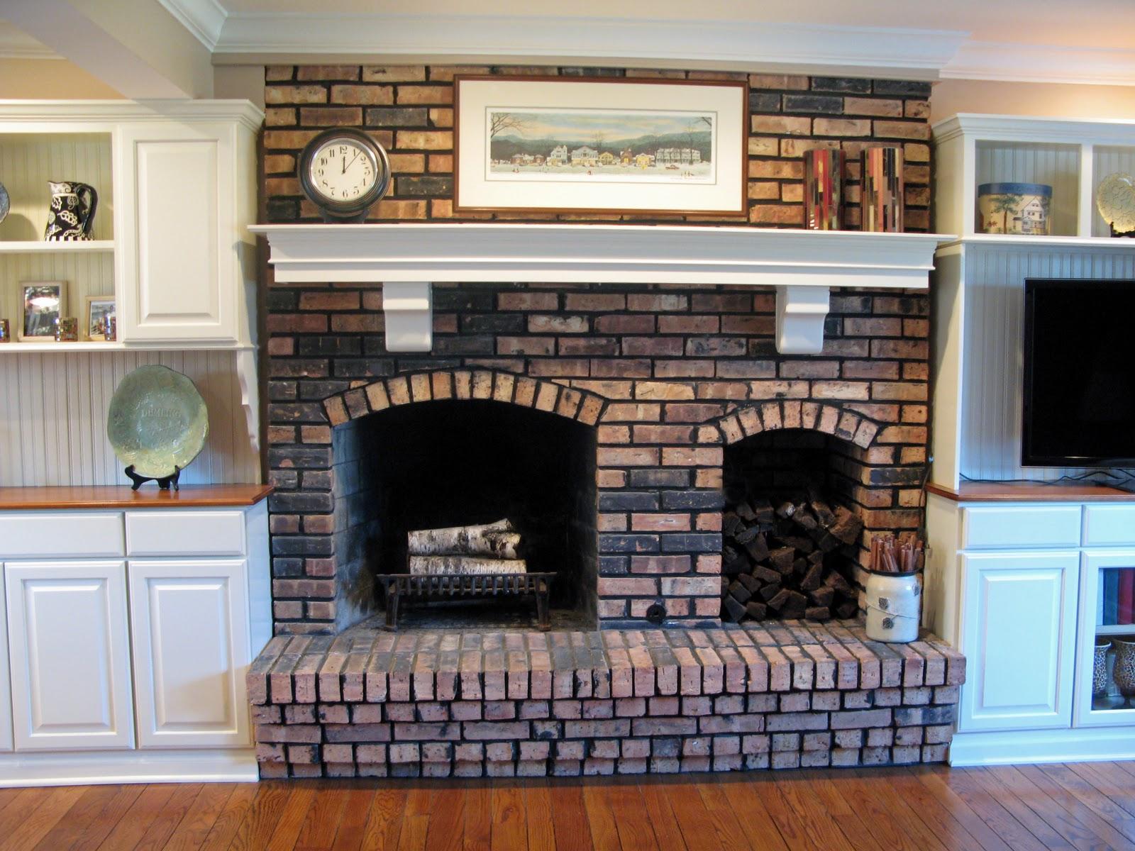 Brick Fireplace Mantel Justgrand A Justgrand Kitchen Family Room Redo