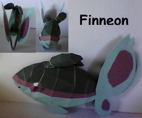 Pokemon Finneon Papercraft