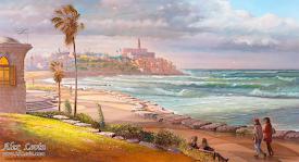 Jaffa beach near Tel Aviv, Israel