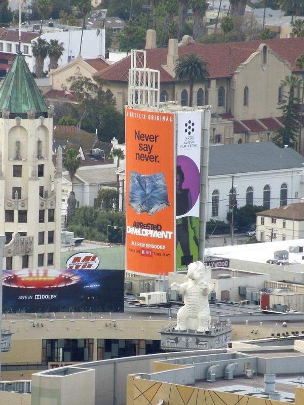 Arrested Development 4 denim cut offs billboard