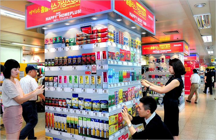 shopping cart shopper tesco s virtual stores in south korea a new invention of the retail. Black Bedroom Furniture Sets. Home Design Ideas