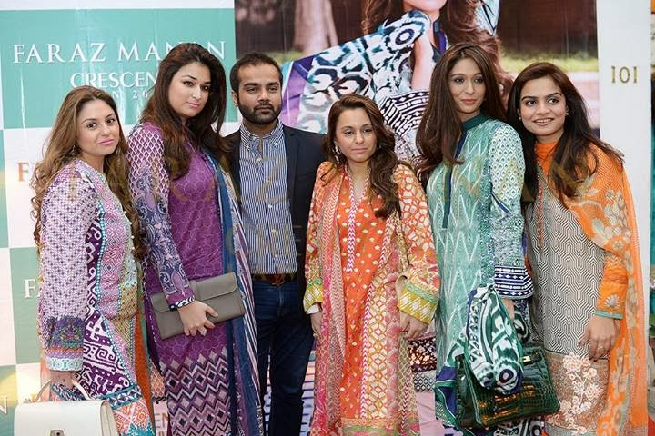 FARAZ MANAN's Crescent Lawn 2014 launch