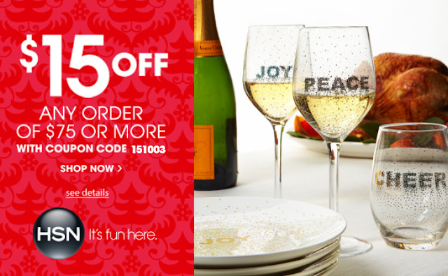 Hsn Coupon $15 Off Any order of $75 Or More With Coupon COde 151003