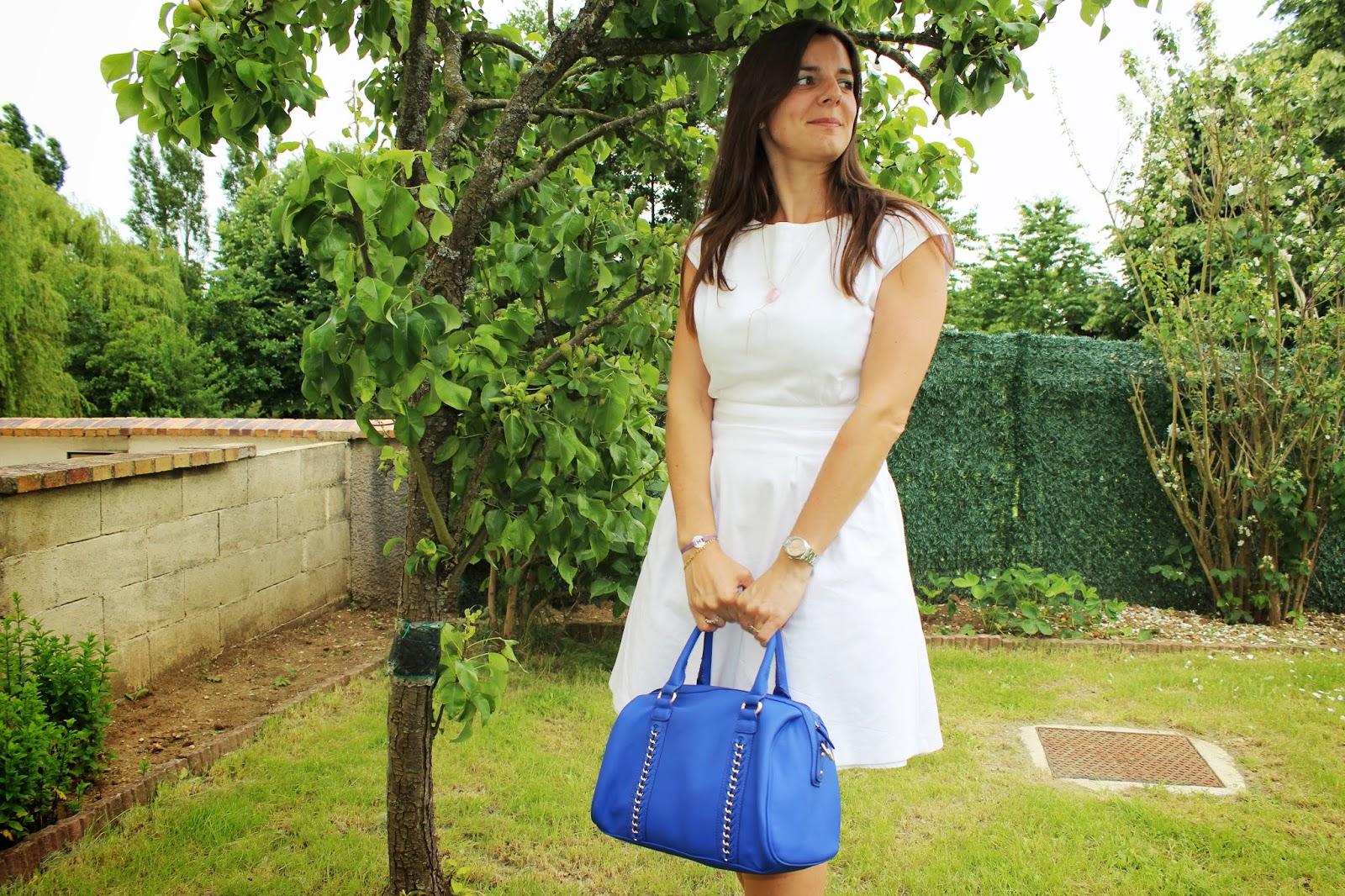 Compensées bleues Naf naf, sac bleue minelli