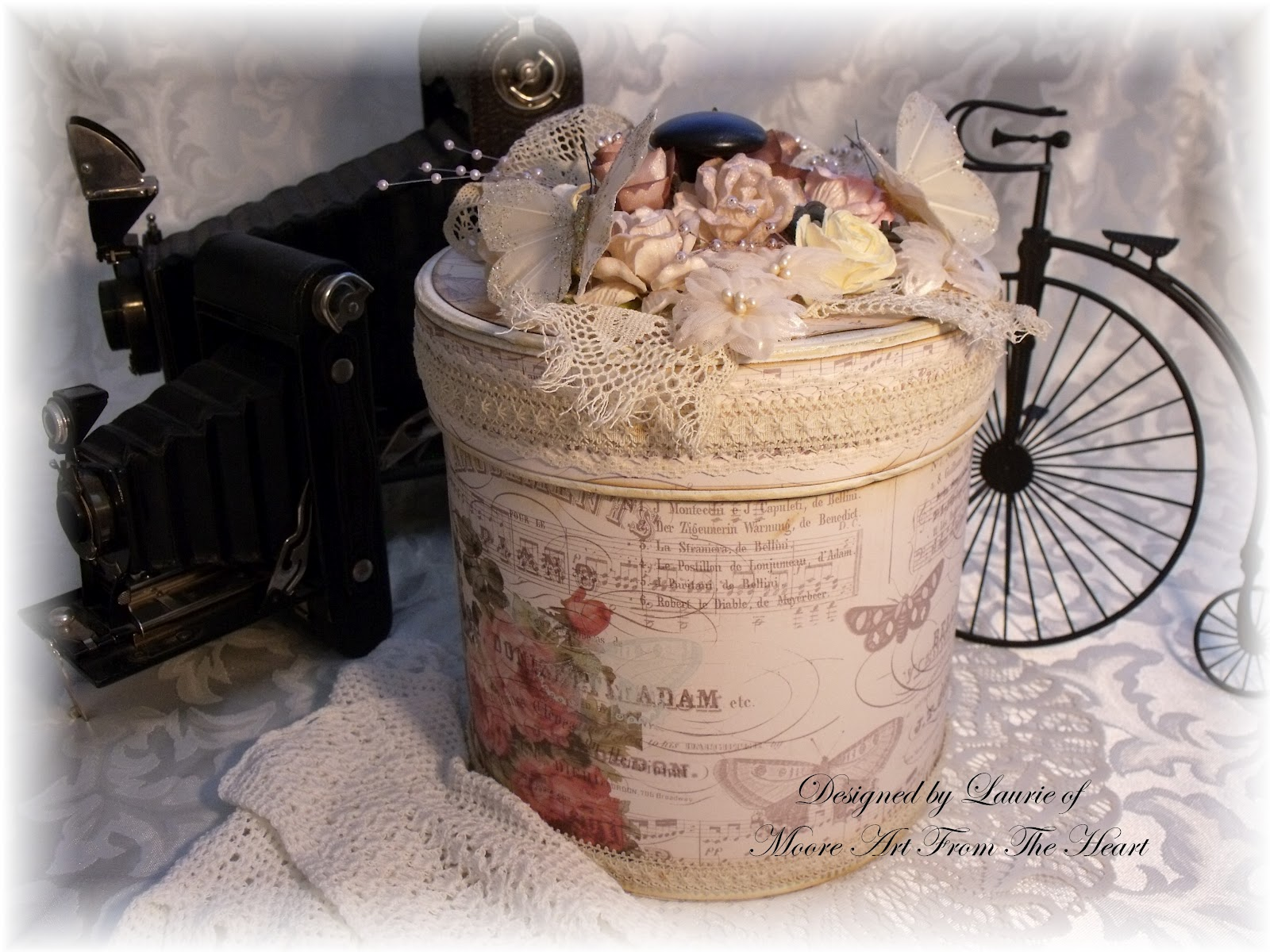 shabby chic decorative box - Decorative Boxes With Lids
