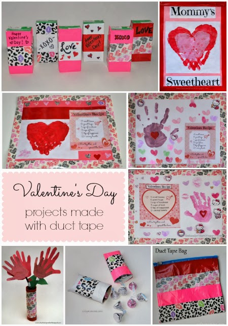 Valentine's Day Duct Tape Crafts #DuckValentine