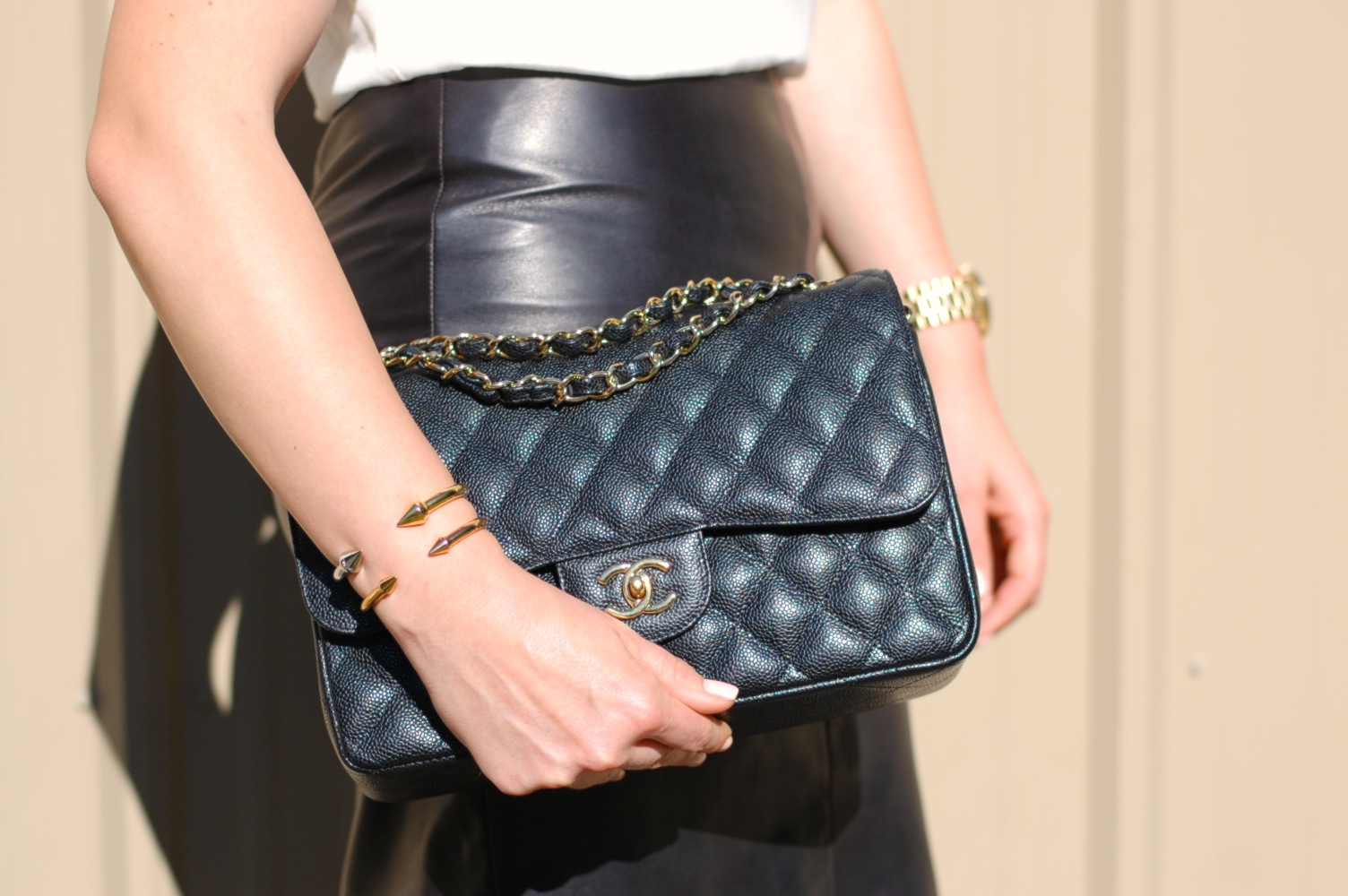 leather pencil skirt and chanel covet and acquire a