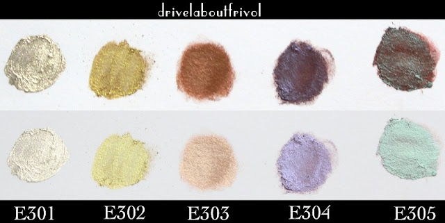 Ellis Faas Eye Lights eyeshadow swatches E301 E302 E303 E304 E305