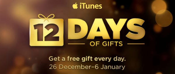 12 days gift itunes day one 1 four six ten