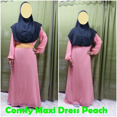 Colourful Comfy Maxi Dress JS1364 - Peach