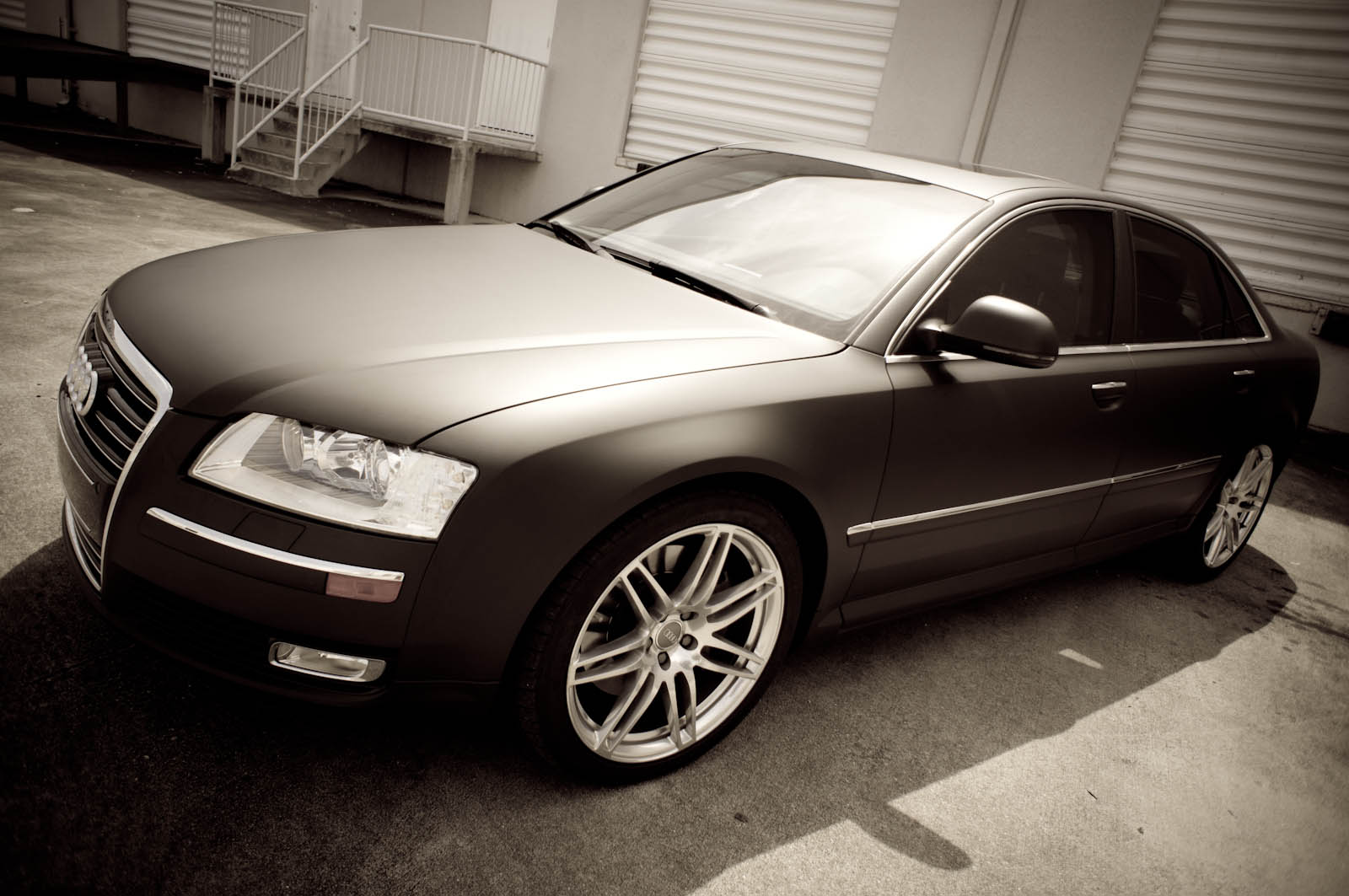 Miami Audi A8 Matte Black Car Wrap By 3m Certified Car