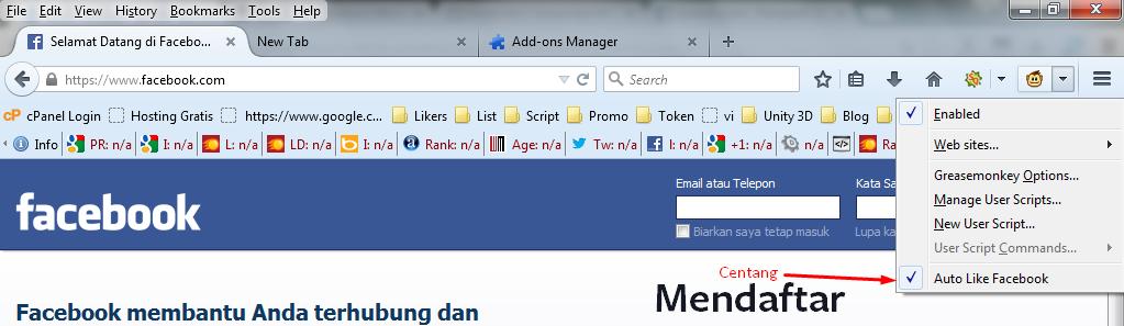 Cara Menerapkan Bom Like Di Facebook - www.ipeenk.com