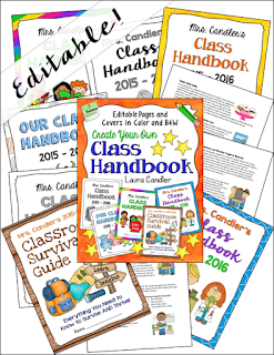 Create a Class Handbook That Rocks! In this post, learn why you need a class handbook and helpful tips about what to include in it. Find out where to download this editable set of handbook covers and pages from Laura Candler, too!