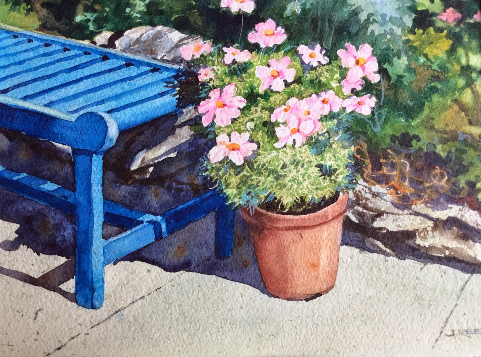 """""""Blue Bench"""" by Joan Reeves"""