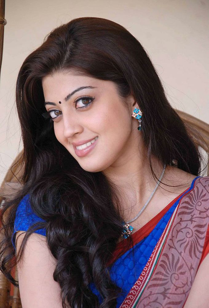 Cute pranitha in a blue saree
