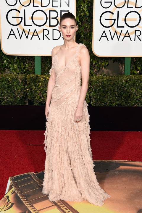 Golden Globes Rooney Mara  Alexander McQueen