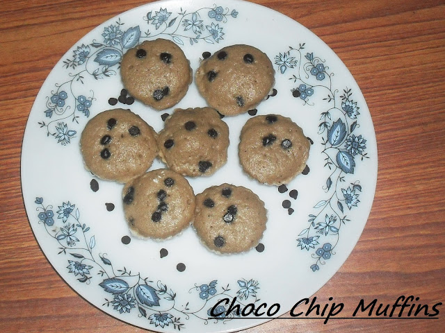 Microwaved Chocolate Chip Muffins