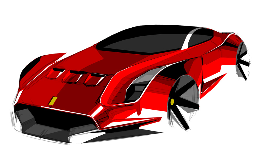 Ferrari 612 Gto Concept 2010 Sketsa Mobil