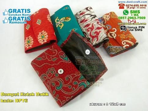 Dompet Kotak Batik Karton Kain Batik