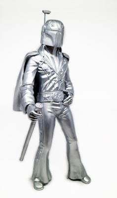 Silver Edition Evel Fett Vinyl Figure by Retro Outlaw Studios