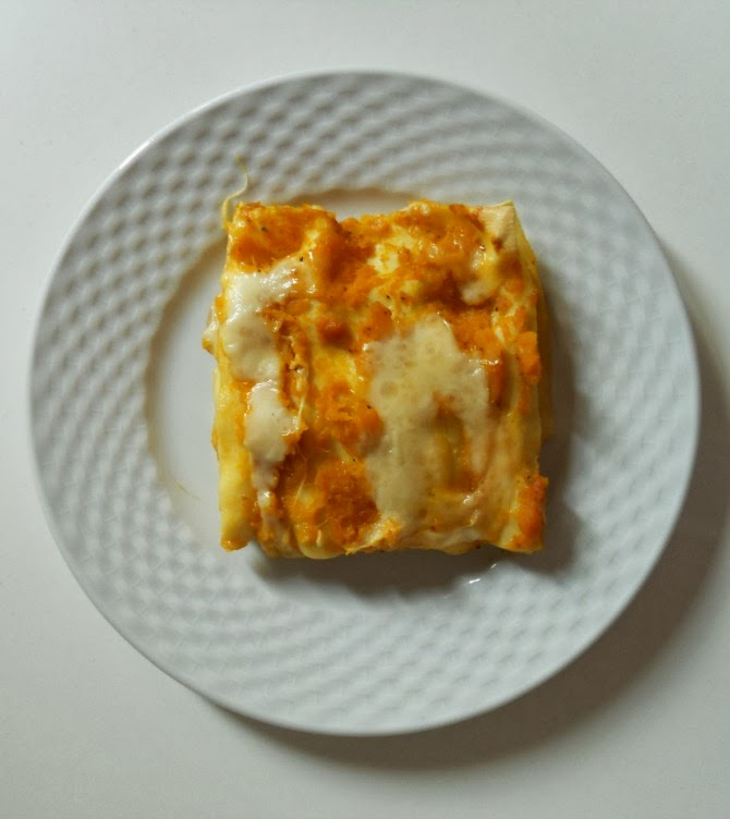 lasagna con zucca e porcini - pumpkin and porcino mushrooms lasagna