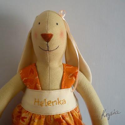 króliczka tilda pomarańczowa Helenka
