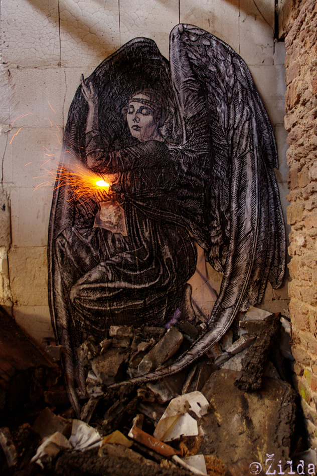 Zilda, street art, Rennes, Fragiles Fabulae