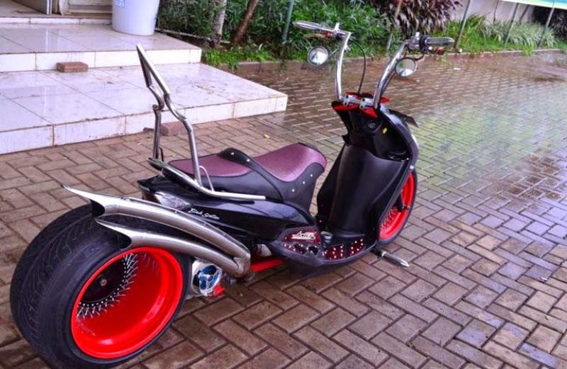 Modifikasi sepeda motor yamah mio sporty