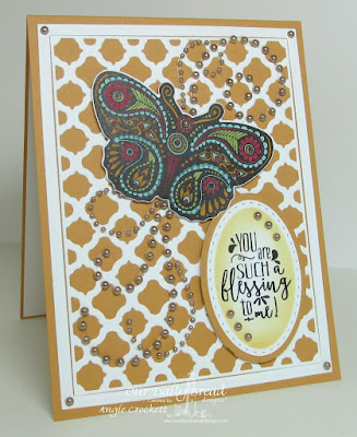 ODBD Boho Blessings, ODBD Custom Fancy Fritillary Dies, ODBD Custom Boho Background Dies, ODBD Custom Stitched Ovals Dies, ODBD Custom Ovals Dies, Card Designer Angie Crockett