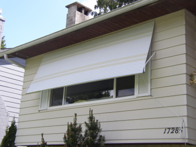 A Simple Solution To This Is An Aluminum Roll Up Awning. You Can Retract  These As Little Or As Much As Desired, And It Is A Very Simple System.