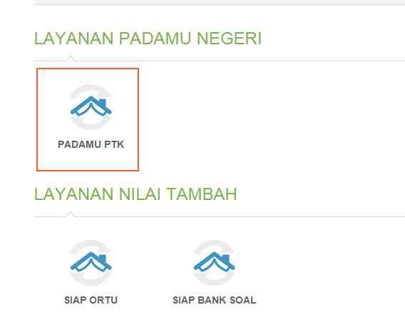 Gambar dashboard layanan PTK