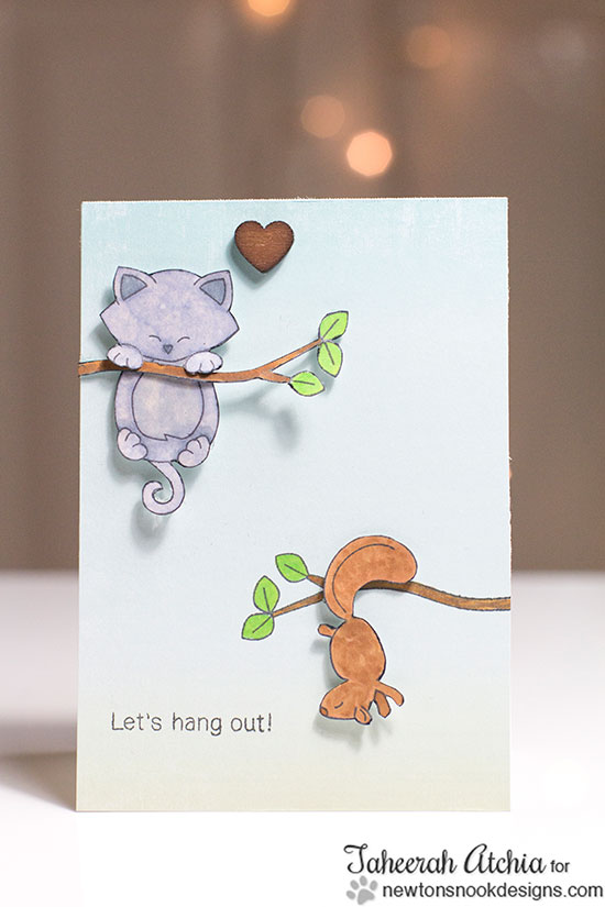 Hanging Animals card by Taheerah Atchia for Newton's Nook Designs | Hanging Around Stamp Set