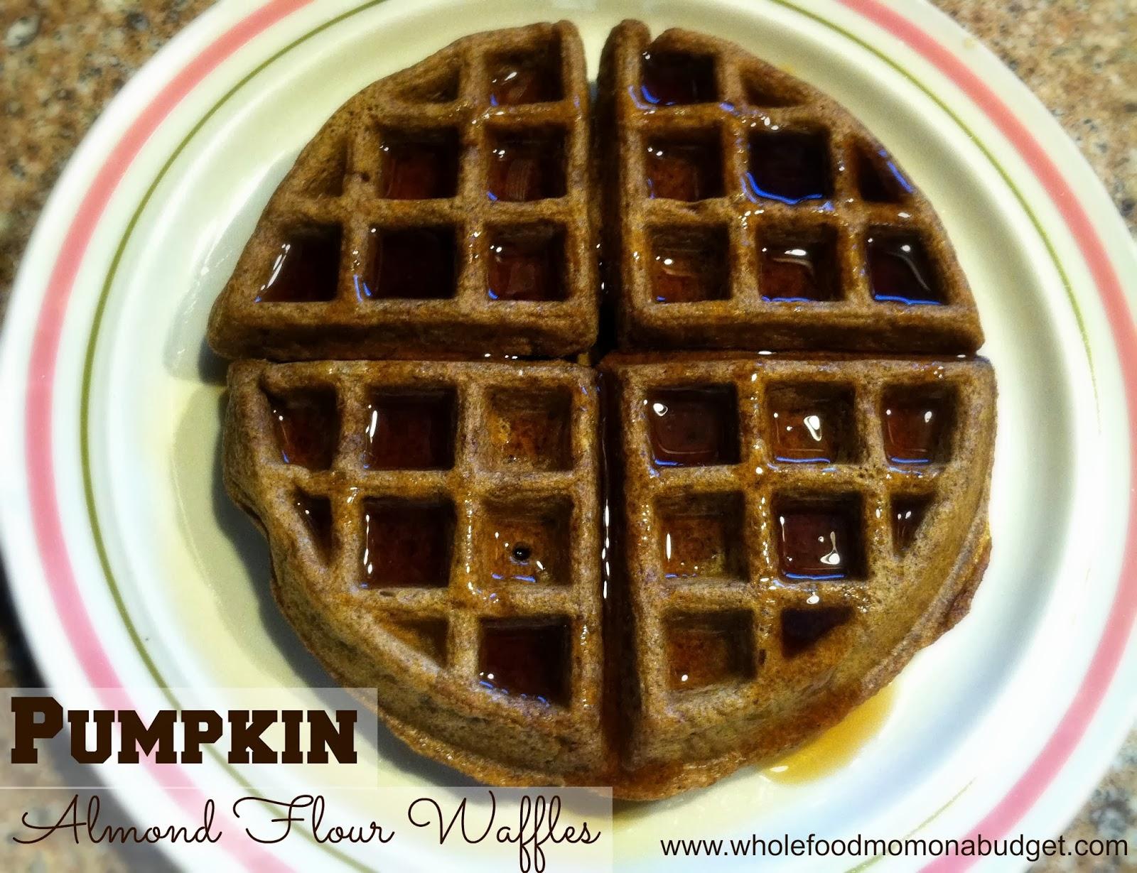 Pumpkin Almond Flour Waffles