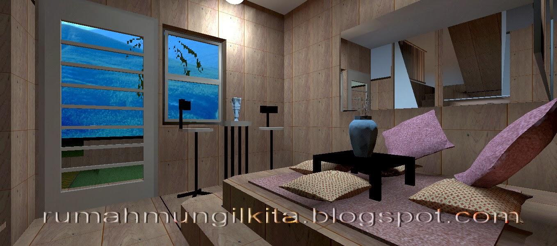 desain ruang tamu tahan banjir