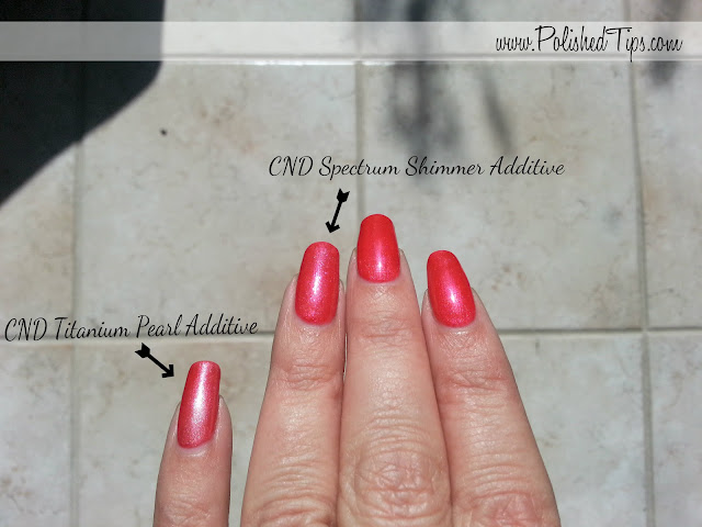 Shellac Hot Chili 39 S Over Tropix With CND Additives On Natural Nails