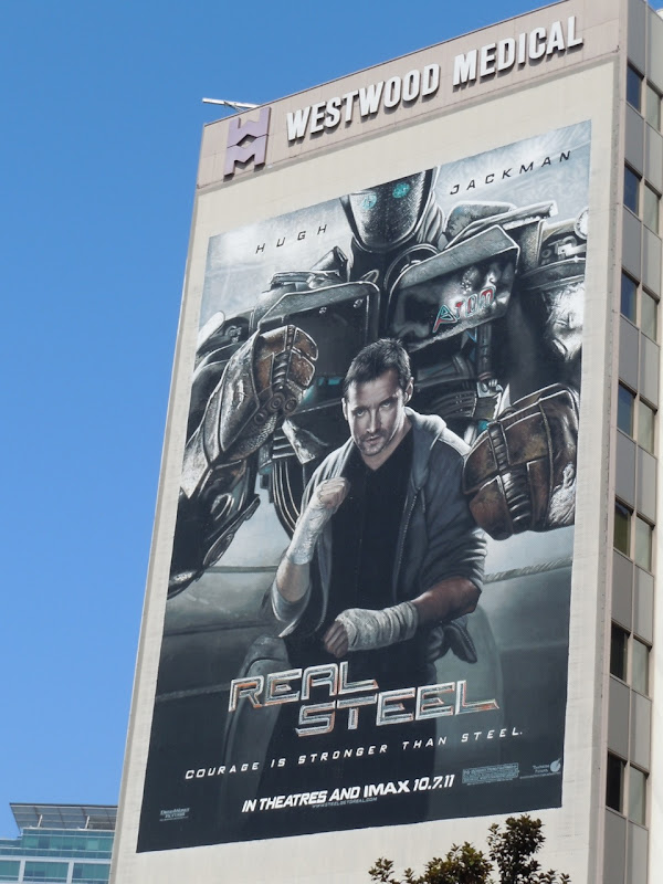 Giant Real Steel movie billboard