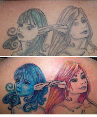 Mermaid tattoo redo