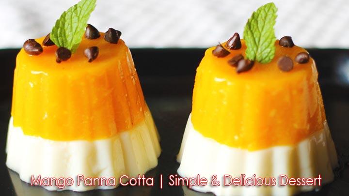 Mango Panna Cotta Dessert