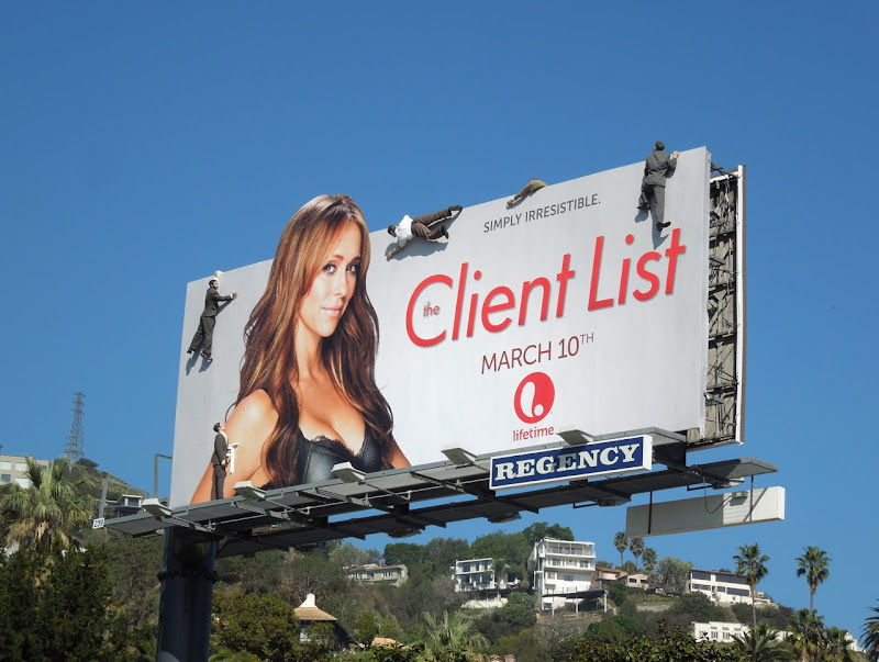Client List 2 mannequin installation billboard