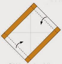 Bước 3: Gấp tiếp mép hai cạnh còn lại tờ giấy vào phía trong.