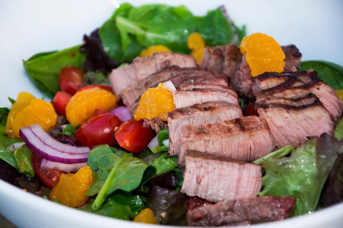 мясной с фото салат теплый