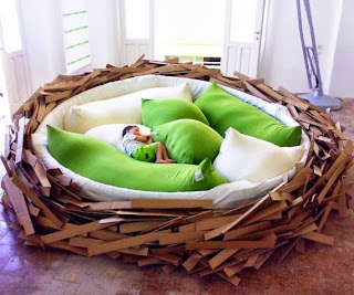 children, nest, bed