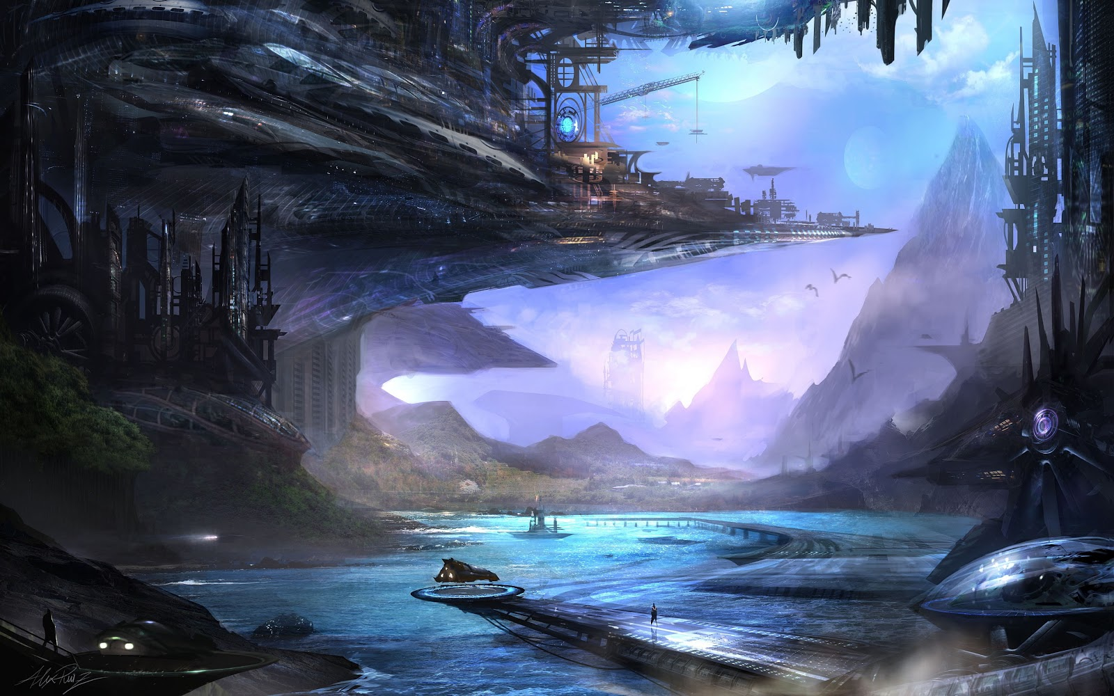 The troll dens visions of the future - Fantasy background ...