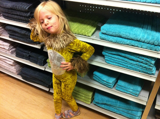 Lion in the towel aisle at Target